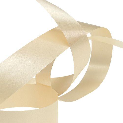 Geschenkband Kräuselband Creme 25mm 100m
