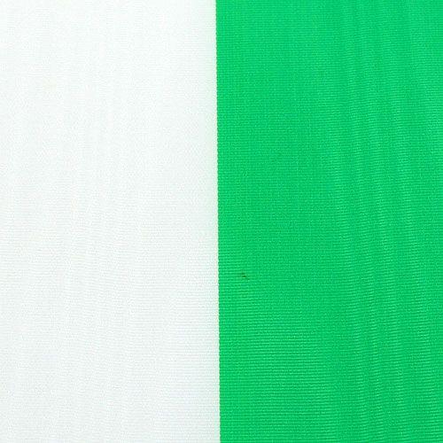 Kranzbänder Moiré grün-weiß vers. Breiten 25m