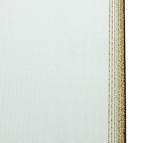 Kranzband Moiré 150mm, Weiß