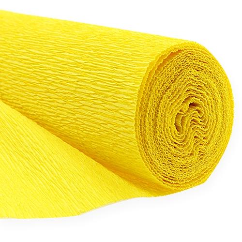 floristen krepppapier gelb 50x250cm preiswert online kaufen. Black Bedroom Furniture Sets. Home Design Ideas