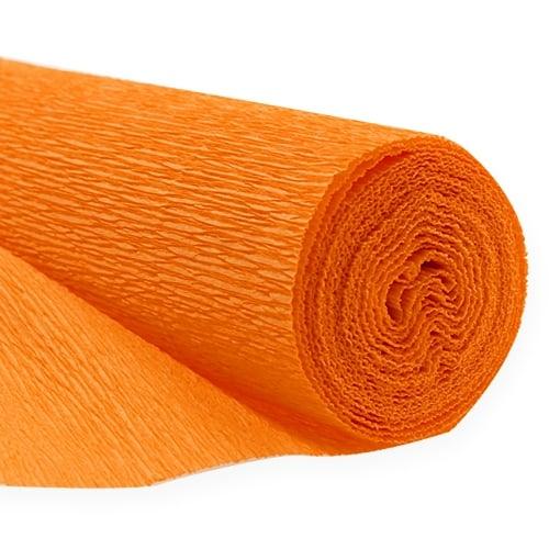 floristen krepppapier orange 50x250cm preiswert online. Black Bedroom Furniture Sets. Home Design Ideas