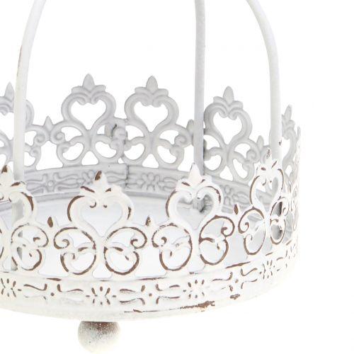 Krone zum Hängen Antik-Weiß Ø10,5cm