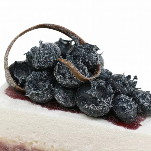 Tortenstück Heidelbeer künstlich 10cm
