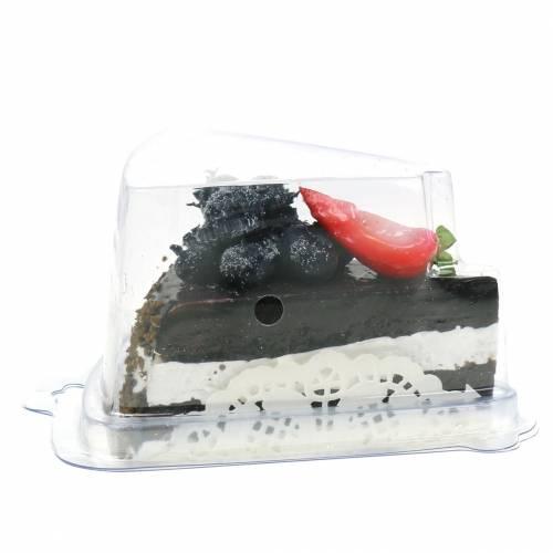 Tortenstück Schoko künstlich 10cm
