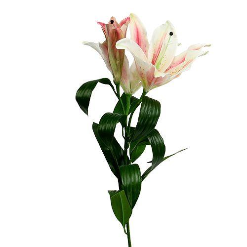 Künstliche Lilie Rosa mit Real Touch 100cm