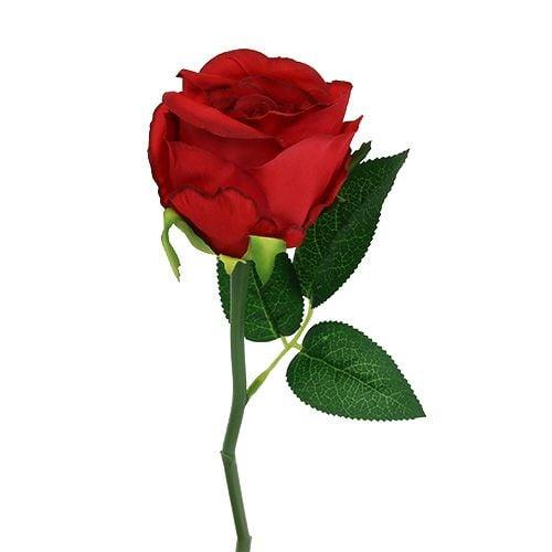 Künstliche Rose Rot Ø6cm L30cm 1St