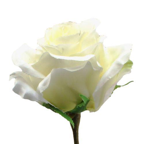 k nstliche rose weiss 70cm preiswert online kaufen. Black Bedroom Furniture Sets. Home Design Ideas