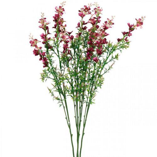 Künstliche Wiesenblumen-Staude Pink Seidenblumen Kunstblumen 4St