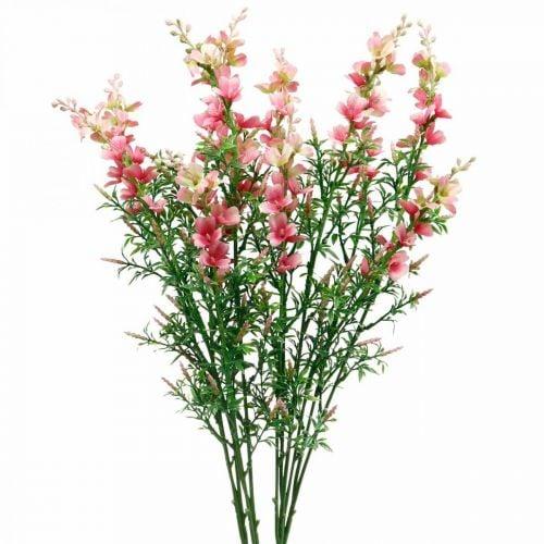 Künstliche Wiesenblumen Rosa Seidenblumen Kunstblumen 4St