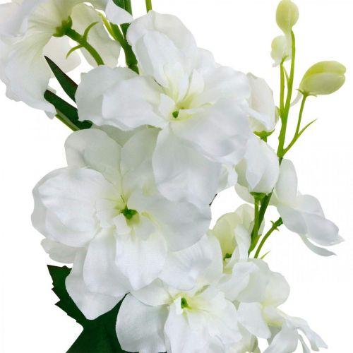 Künstlicher Rittersporn Weiß Delphinium Kunstblume Seidenblumen 98cm