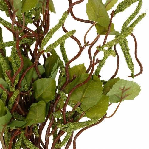 Künstlicher Zweig mit Birkenkätzchen, Birkengrün-Strauß, Maibaum 3St