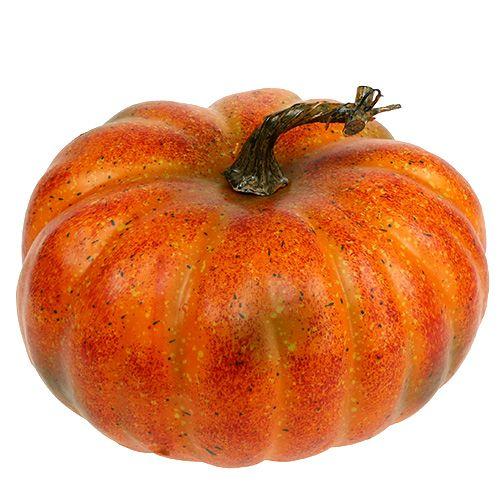 Kürbis Orange künstlich Ø23cm H13cm