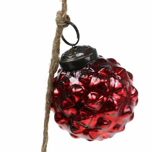 Weihnachtsdeko Girlande Christbaumkugeln Rot 120cm