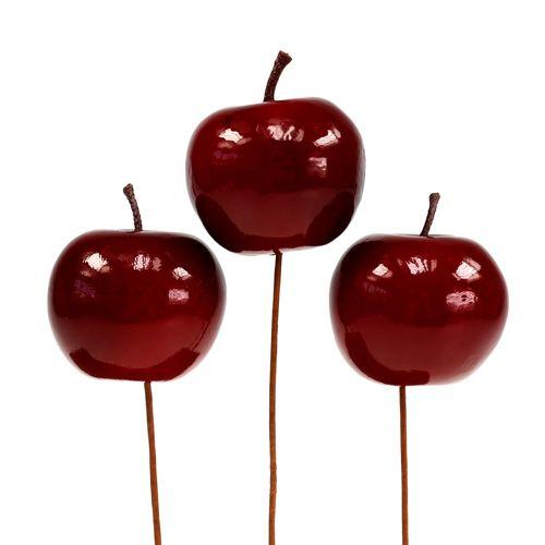 Kunstobst Apfel rot lackiert Ø5,5cm 12St