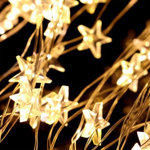 LED Lichterbündel Stern für außen 320er 1m Silber/Warmweiß