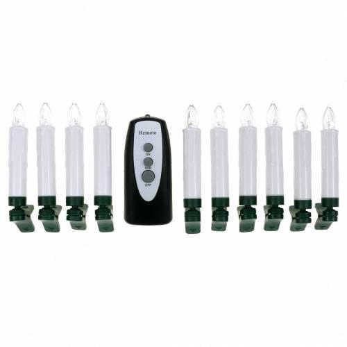 LED Baumkerzen 10cm Warmweiß mit Fernbedinung 10St