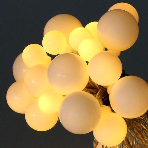 30 LED 3m Mirco Leuchtdraht Lichterkette Lichterdraht Party Deko Schnur warmweiß