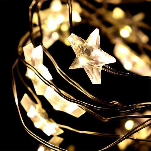 LED-Unterwasserlichterkette 15er Stern inkl. Batterie