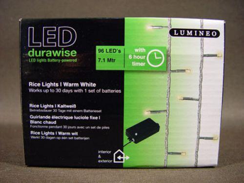 led reislichterkette 96er 7 1m mit batterie timer warmwei f r au en preiswert online kaufen. Black Bedroom Furniture Sets. Home Design Ideas