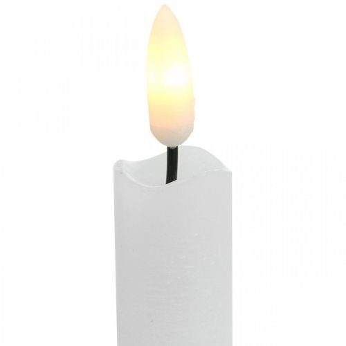 LED Kerze Wachs Tafelkerze Warmweiß Für Batterie Ø2cm 24cm 2St