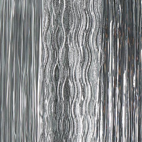 Weihnachtsbaum Schmuck Lametta Mix Silber 50cm