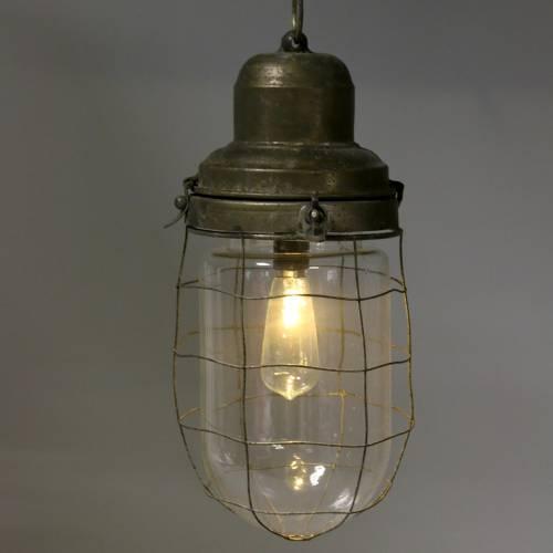 Deko Lampe Schiffsleuchte mit Kette zum Hängen LED Ø13,5cm H29,5cm
