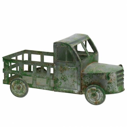 Blumentopf Lastwagen Zink Grau, Grün 42×17,5×19,5cm