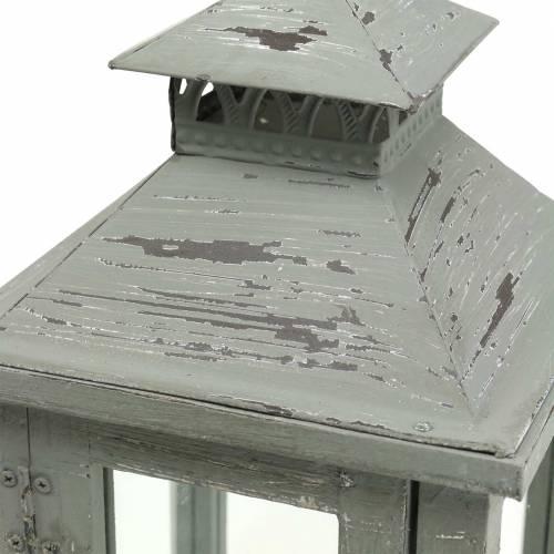 Laterne Holz Grau H32cm Tischlaterne für Dekoration