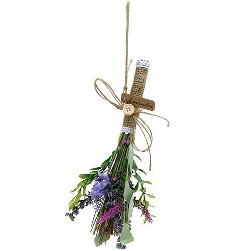 Künstlicher Lavendelbund mit Kräutern 23cm