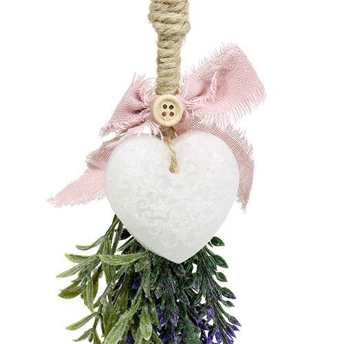 Lavendelbusch mit Herz 25cm sort. 2St