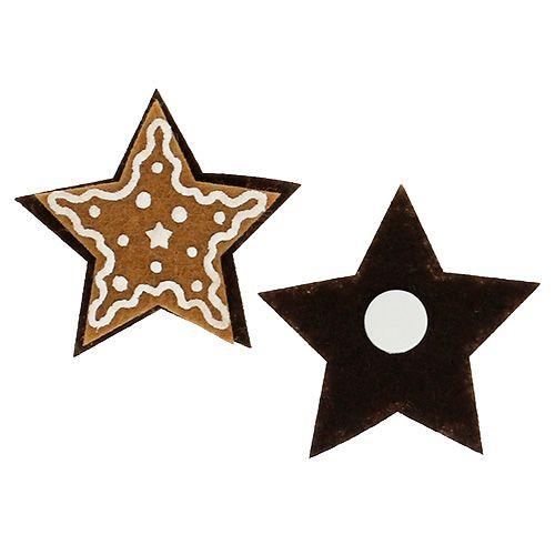 Lebkuchen Sterne 4,5cm zum Kleben 12St