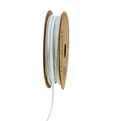 Lederband Weiß 3mm 10m