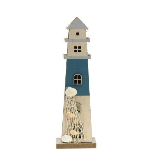 Leuchtturm mit LED 29cm