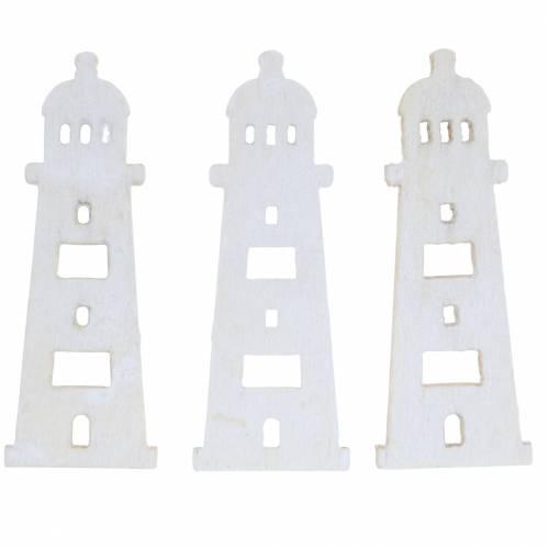 Streu-Deko Leuchtturm Holz Natur 4cm 72St