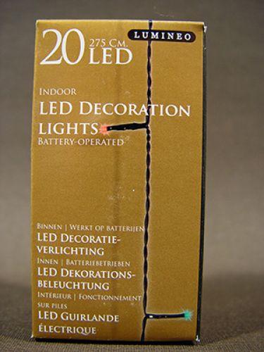 led lichterkette 20er 275cm mit batterie schwarz bunt. Black Bedroom Furniture Sets. Home Design Ideas