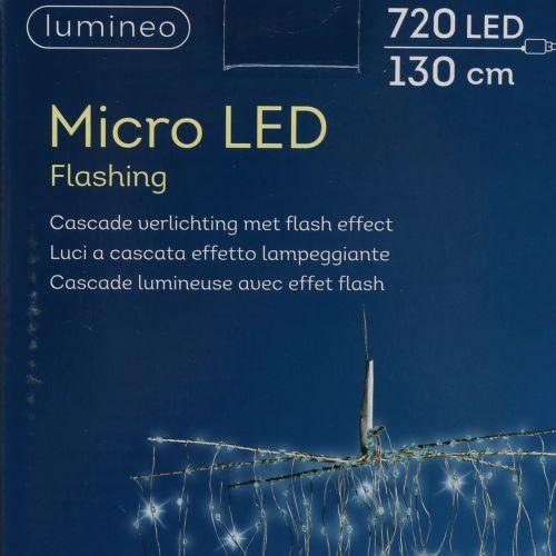 Lichtkaskade Micro-LED Kaltweiß 720er H130cm