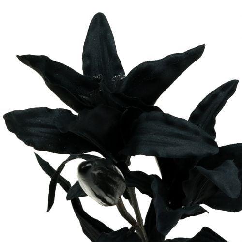Kunstblume Lilie Schwarz 84cm