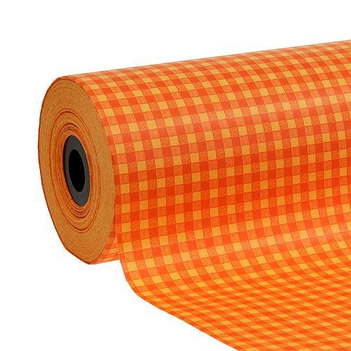 Manschettenpapier 25cm 100m Orange Karo