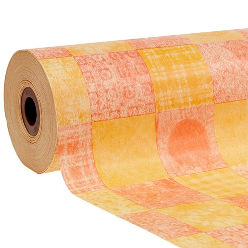 Manschettenpapier 37,5cm 100m Karo Orange