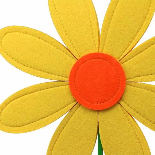 Gigantische Filzblume Grün, Gelb, Orange Ø40cm H93cm Schaufensterdekoration