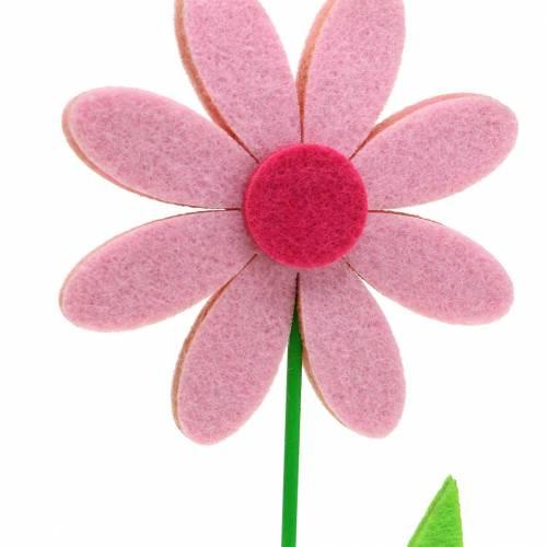Filzblume Rosa 27cm 4St