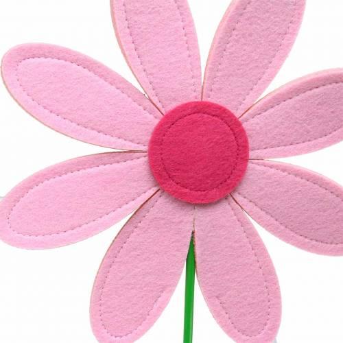 Gigantische Filzblume Grün, Rosa, Pink Ø40cm H93cm Schaufensterdekoration