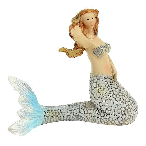 Dekofigur Meerjungfrau Blau 6cm - 9,5cm 3St