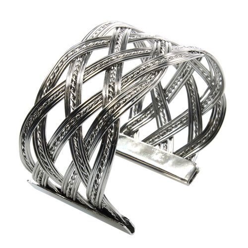 Metallarmband Silber 6St