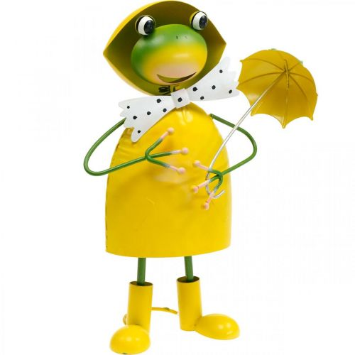Frosch Dekofigur Gartendeko Regenfrosch Metall H35cm