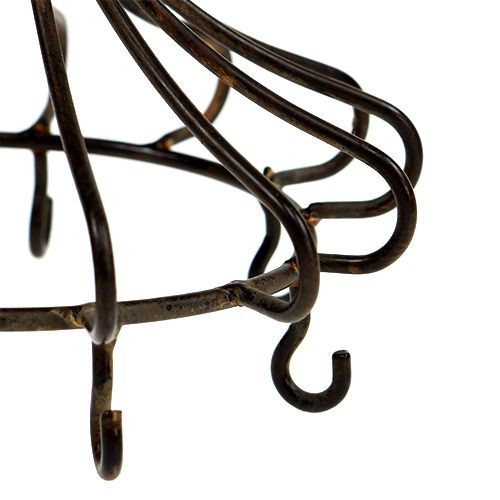 Metallkrone zum Hängen Braun