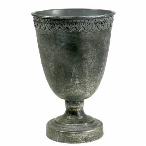 Metallpokal Silber Antik H26cm Ø17cm