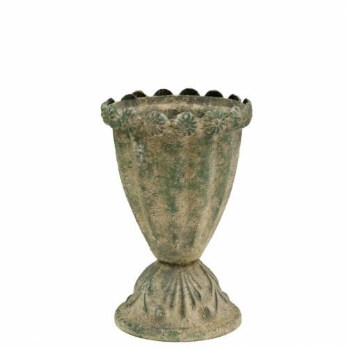 Deko-Pokal Antikoptik Metall Moosgrün Ø9cm H14,5cm