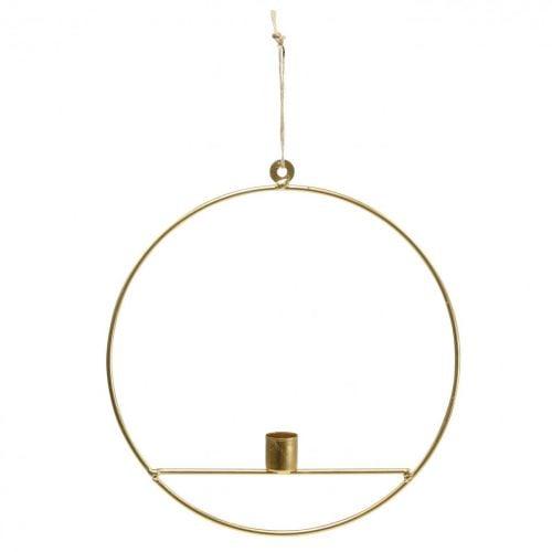 Kerzenhalter zum Hängen Golden Metall Dekoring Ø25cm 3St