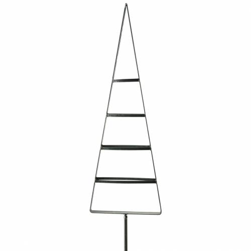 Gartenstecker Tanne Metall Grau 58cm